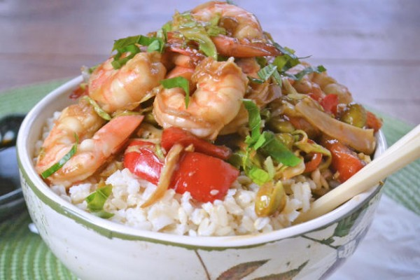 Asian Shrimp Rice Bowls Photo