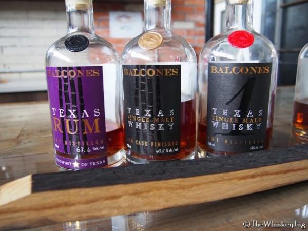 Balcones Whiskey lineup