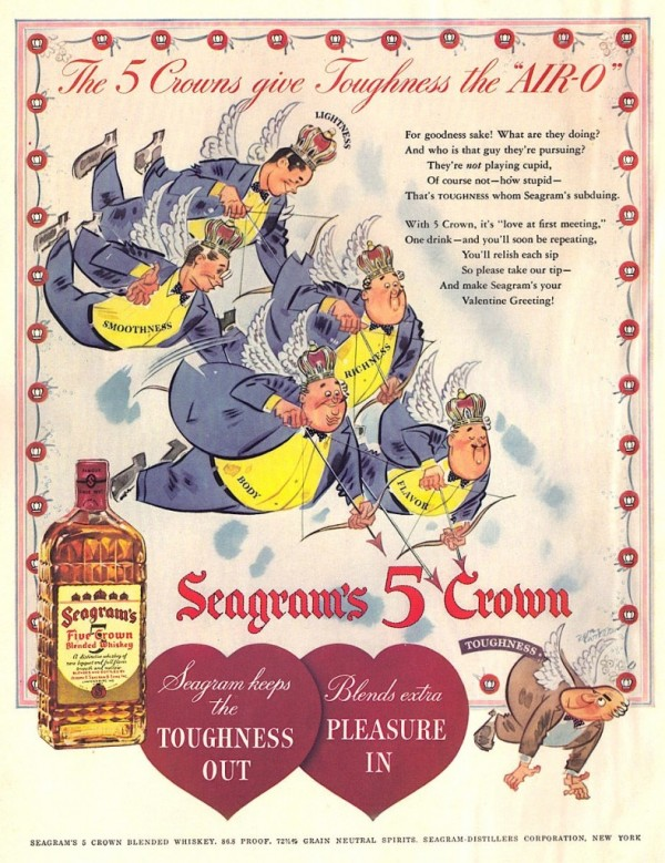 Seagrams 5 Crown Whiskey, 1942