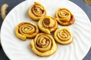 Candied Cinnamon Swirls is so easy to make with only 4 ingredients! They can easily become addictive so you want to make sure you make plenty of these treats. A recipe from Seduction in the Kitchen.