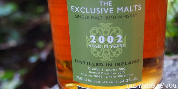 2002 Exclusive Malts Cooley 13 Years Label