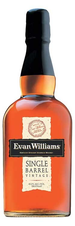 Evan Williams Single Barrel Bourbon Bottle