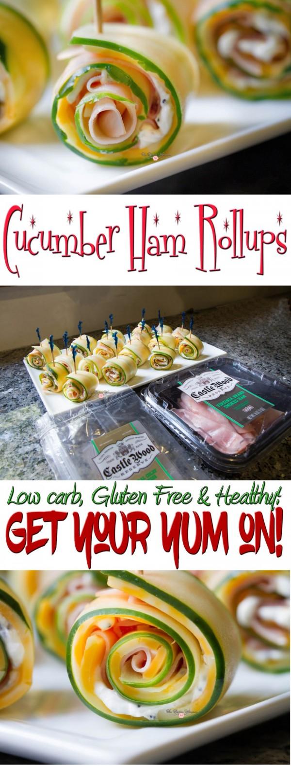 Cucumber Ham Rollsups Collage