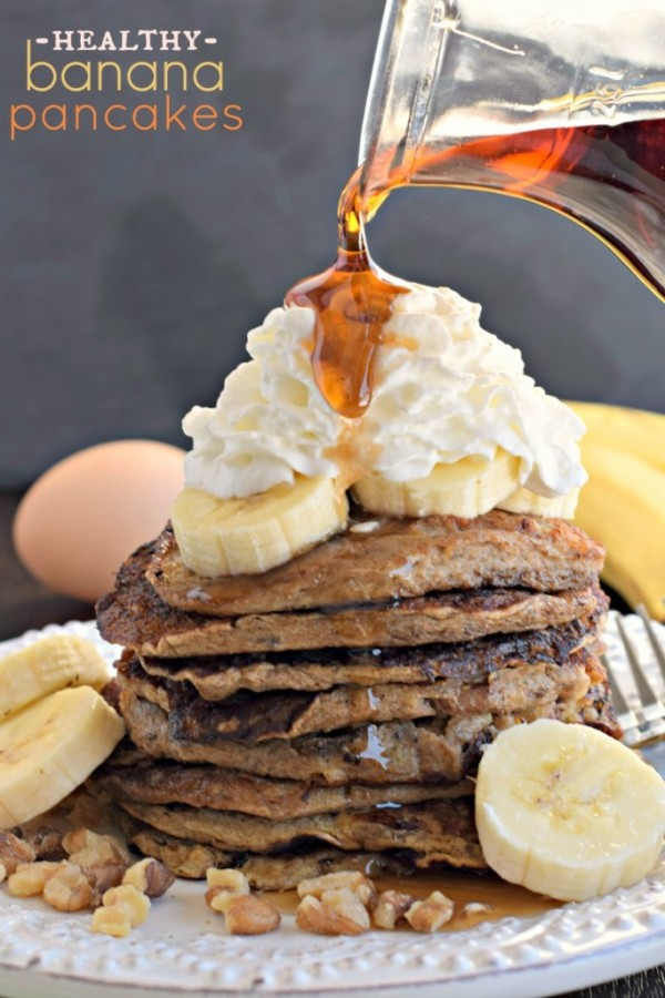Healthy Banana Nut Pancakes by Shugary Sweets | Epicurious Community ...