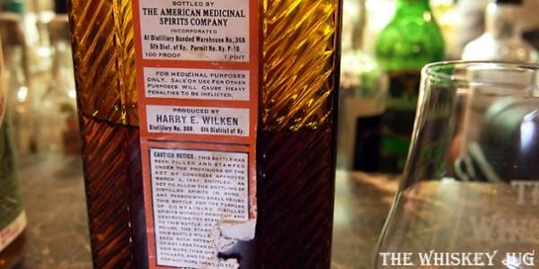 Special Old Reserve Medicinal Pint Label