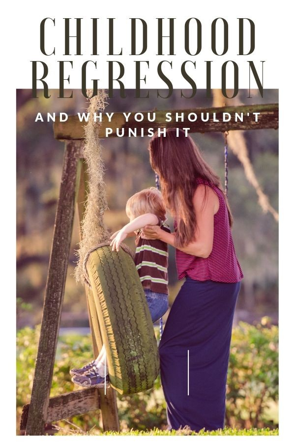 Why you shouldn't punish childhood regression. Childhood regression, positive parenting solutions, positive parenting strategies for regression, regression strategies, tips to help with regression, tips to help with childhood regression, positive parenting techniques to help with regression, behavioral regression, emotional regression, kids regression, regression behaviors, how to help with regression behaviors, positive discipline regression, positive parenting regression