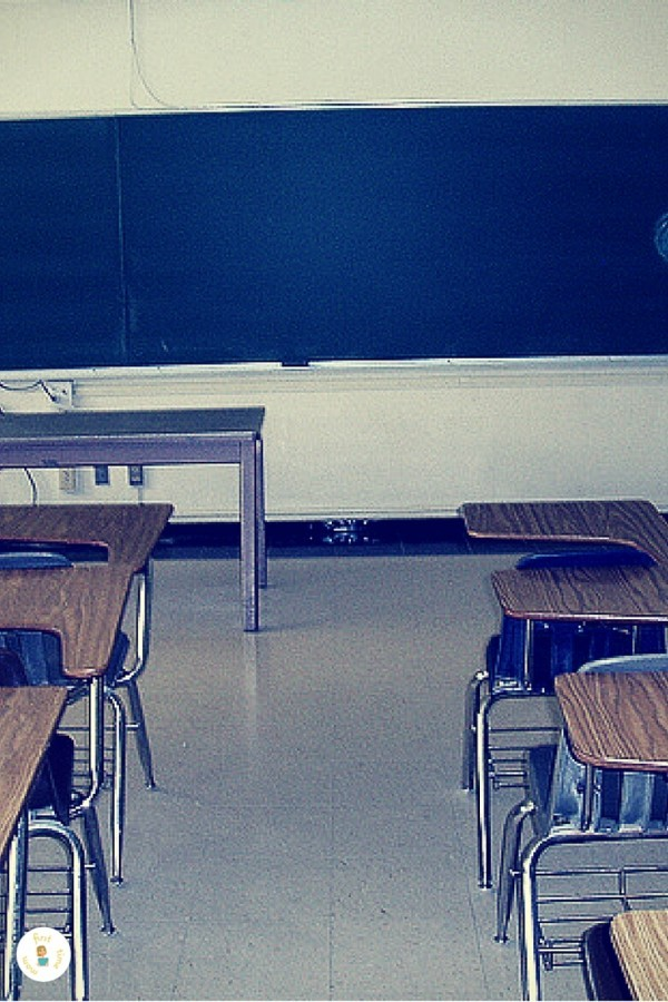 Long walk to the teacher's desk.