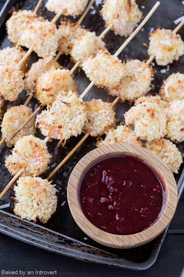 Baked Coconut Shrimp with Spicy Strawberry Chutney | TODAY.com