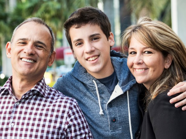 Parents and Teen Boy