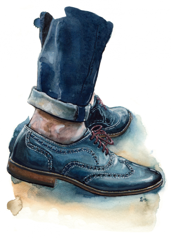 Just A Men Shoe fashion illustration