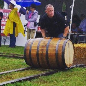 barrel rolling at the Kentucky Bourbon Festival
