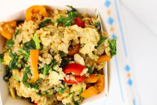 Kale + Sweet Pepper Stir Fry | LocalSavour.com