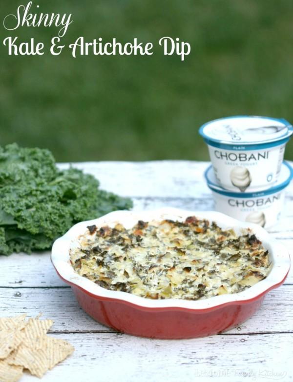 Skinny Kale & Artichoke Dip   LeMoine Family Kitchen. A lightened up ...