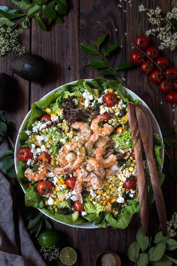 Grilled Shrimp and Corn Salad | Foolproof Living