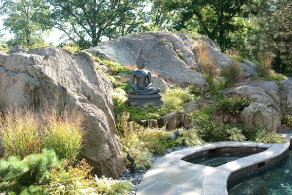 zen garden rock pond