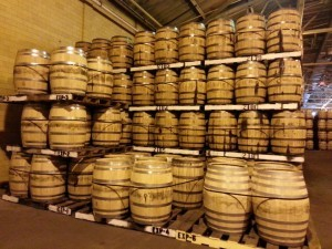 Barrels at A. Smith Bowman distillery, courtesy Keith Allison
