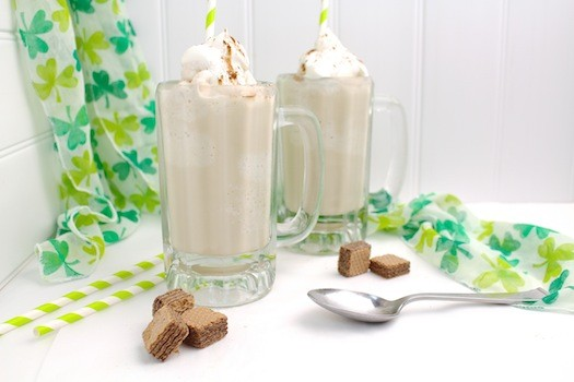 Irish Coffee Milkshake with Whiskey Whipped Cream | LocalSavour.com