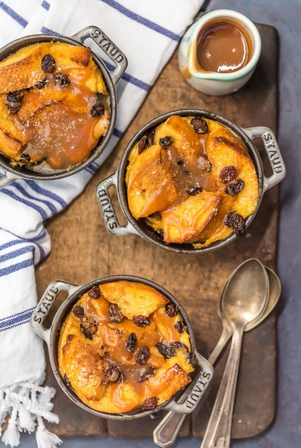 Celebrate St. Patrick's Day with Irish Bread Pudding with Whiskey Caramel Sauce! Such a decadent and easy dessert! We LOVE this EASY DESSERT RECIPE perfect for guests or just a night at home!