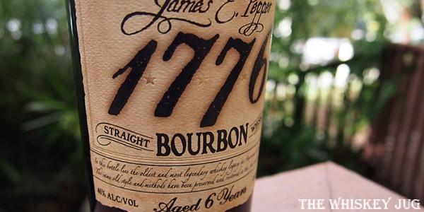 James E Pepper Bourbon 6 Years Label