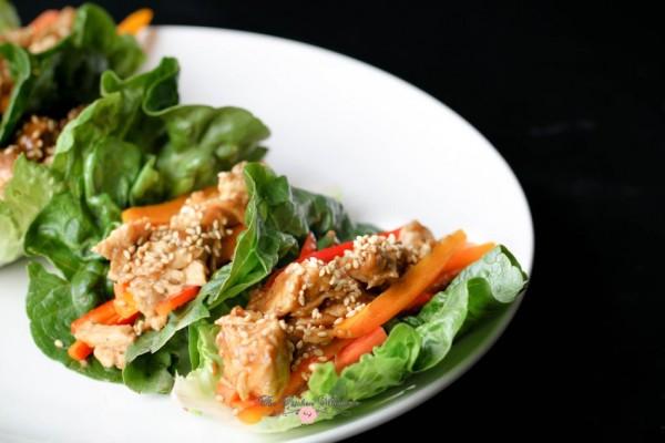 Thai Chicken Lettuce Wraps11