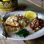 Oregano Chicken with Pearl Couscous and Greek Salsa