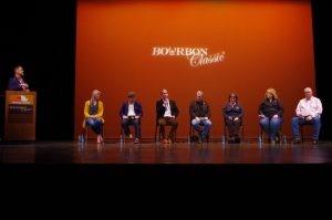 New Masters Panel (L-R) Bobby Burke, Marianna Barnes, Kaveh Zamanian, Campbell Brown, Shane Baker, Pam Heilmann, Joyce Nethery, Corky Taylor - photo by Jordan McFarland