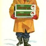 vintage red cap holiday ad
