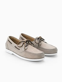 He By Mango Leather Boat Shoes