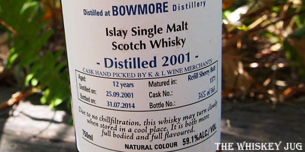 2001 Signatory Bowmore 12 Years Label