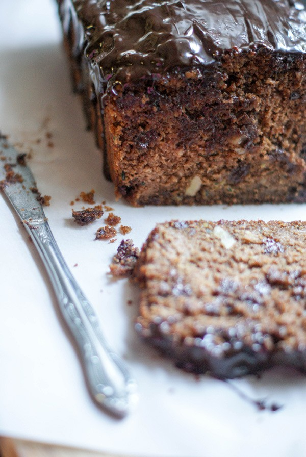 Kamut flour Chocolate Walnut Zucchini Loaf by sugarlovespices ...