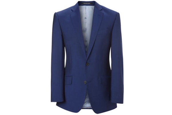 Strong Blue Wool & Mohair Hyde Suit