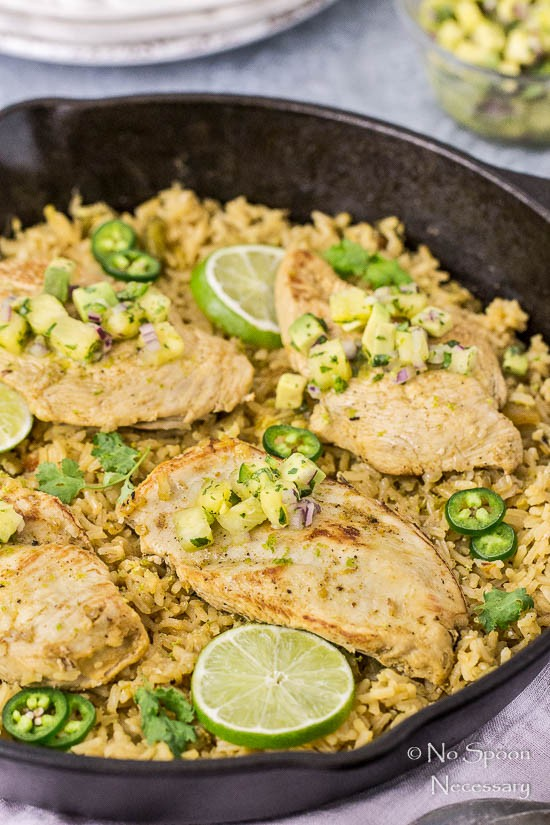 One Skillet Cumin & Lime Chicken with Pineapple-Avocado Salsa-89