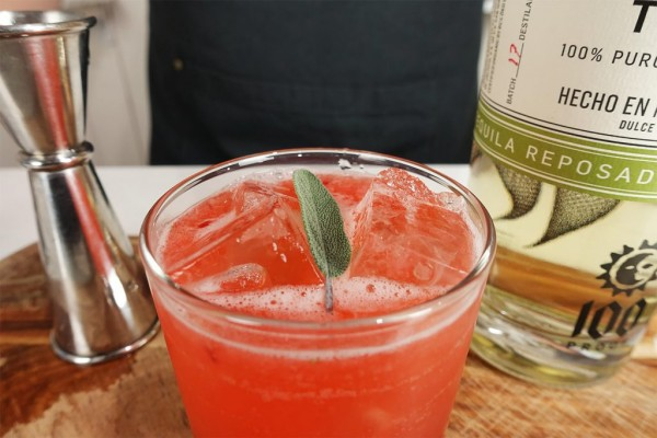 Strawberry Sage Margarita