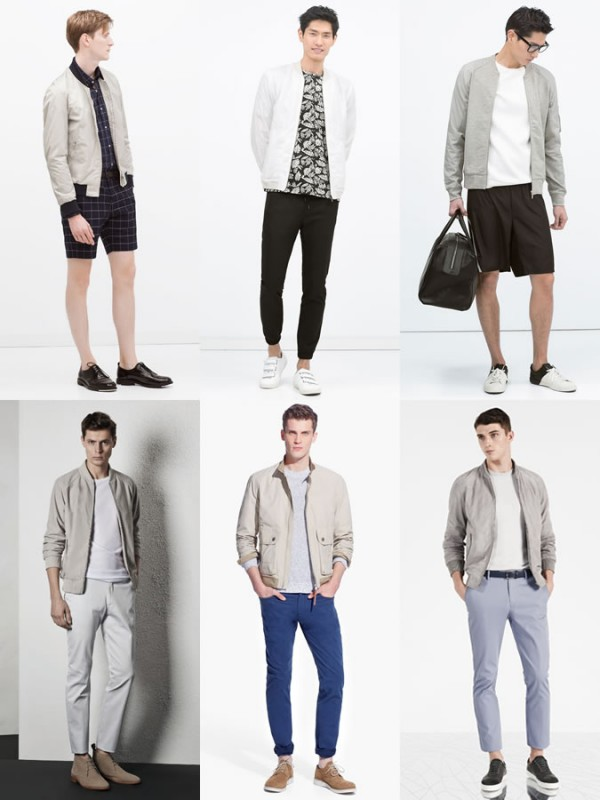 Men's Lightweight Bomber Jackets - Spring/Summer Outfit Inspiration Lookbook