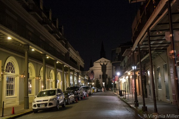 Walking the streets of the French Quarter at night