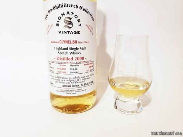 2008 Signatory Vintage Clynelish 10 Years is a great whisky. Crisp honied fruit aroma, waxy oily fruity palate and a finish that goes on and on and on.