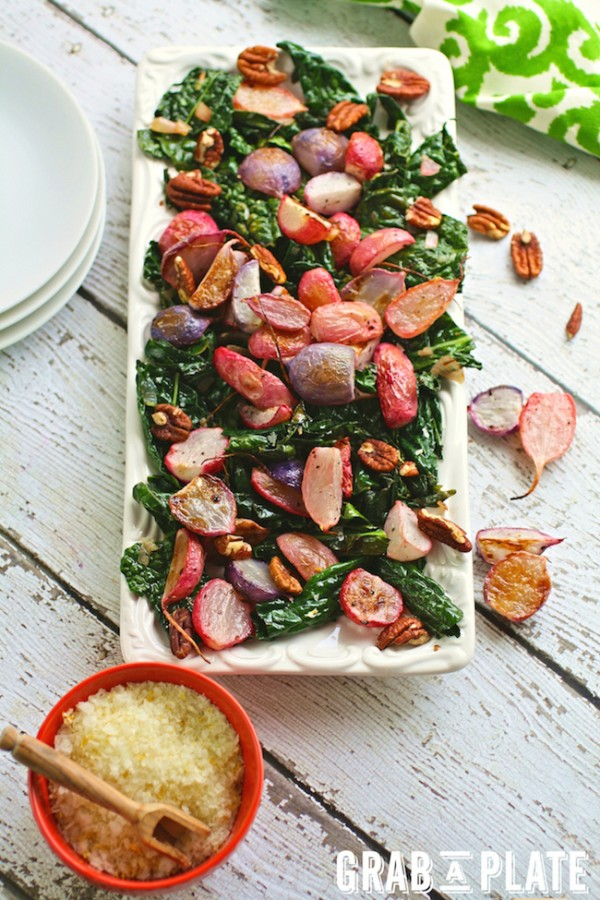Roasted Radishes and Sautéed Kale with Citrus Salt by Patricia Conte ...