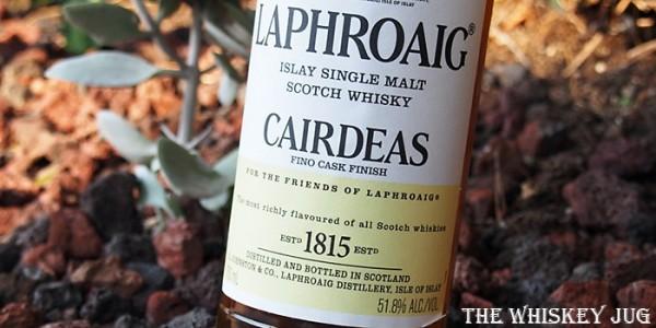 Laphroaig Cairdeas 2018 Fino Cask Label