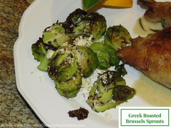 Greek Brussels Sprouts ©EverydayCookingAdventures2016-2