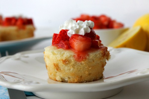 Pound Cake Strawberry On A Stick