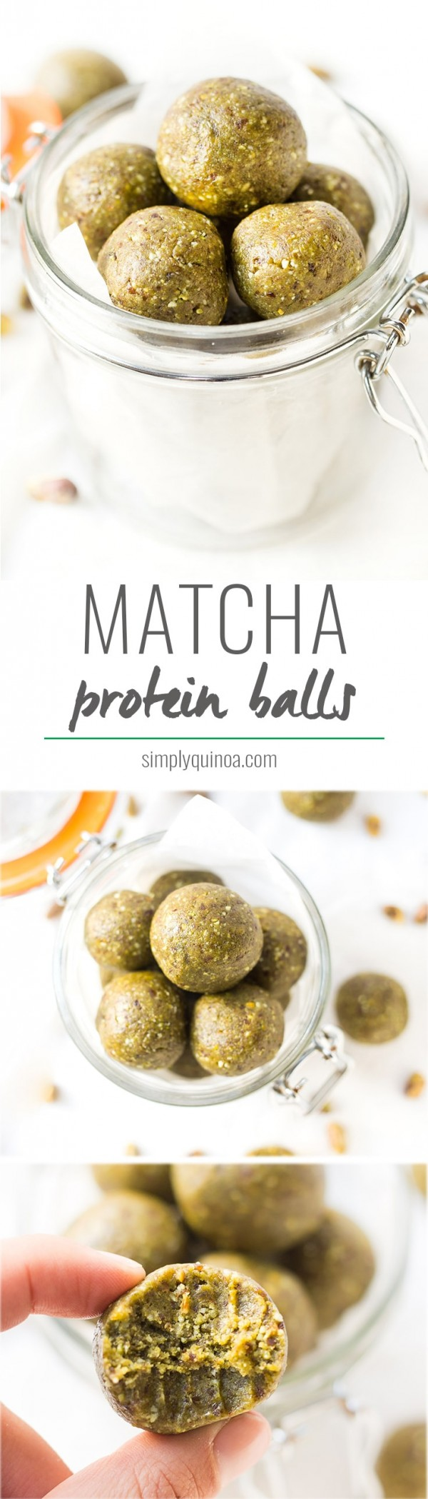 A fun way to use matcha, these matcha protein balls are a cinch to make! They're packed with protein, healthy fats and make the perfect on-the-go snack!