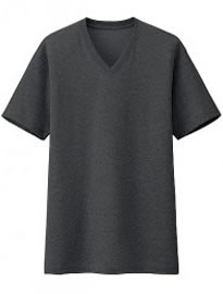 Uniqlo Men Packaged Dry V Neck Short Sleeve T-shirt