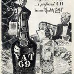 vat 69 vintage christmas ad