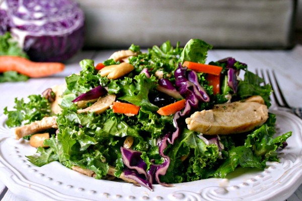 Kale Cabbage Chicken Salad | Life, Love, and Good Food