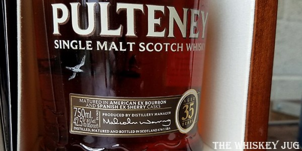 Old Pulteney 35 Label