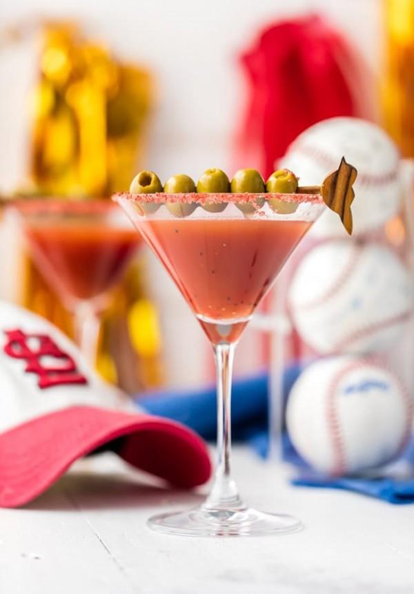 Dirty Redbird Martini (Cardinals Cocktail) | The Cookie Rookie