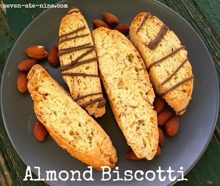 seven ate nine almond biscotti