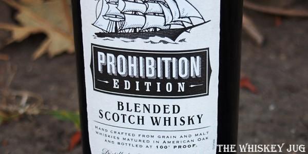 Cutty Sark Prohibition Label