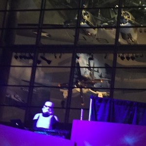 Storm Trooper spins at the World War II Museum at William Grant Welcome to Yonderyear party, photo Amanda Schuster
