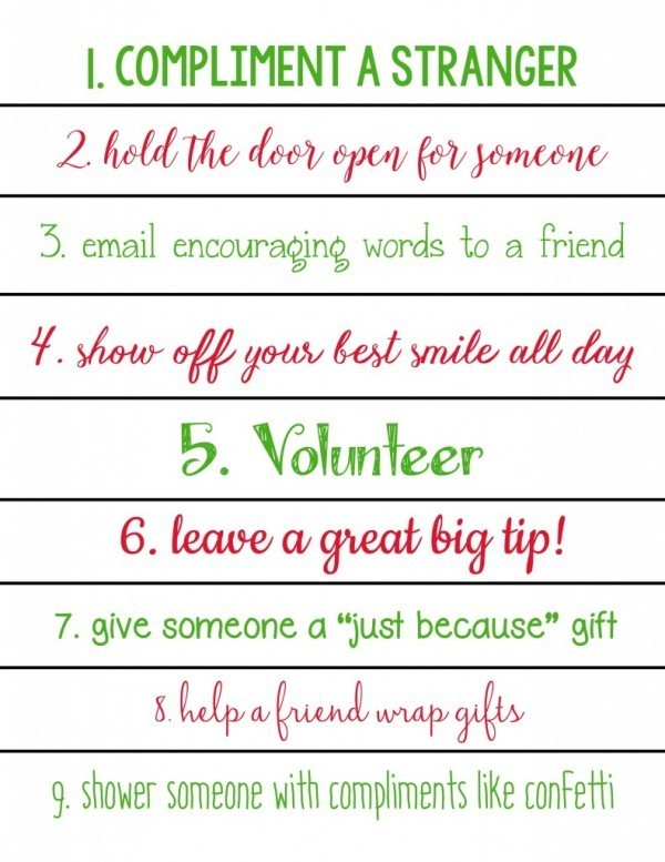 Simple acts of kindness ideas for kids of all ages christmas acts of kindness christmas calendar pronofoot35fo Image collections